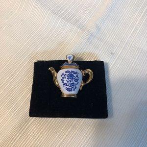 Antique Porcelain Lapel Buttons now Earrings